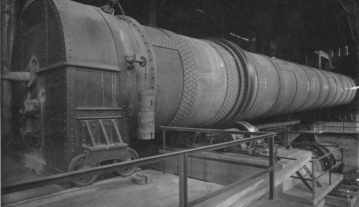 Imagen antigua fábrica de cemento