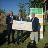 Entrega de Cheque a Banco Alimentos Malaga HC Hispania.