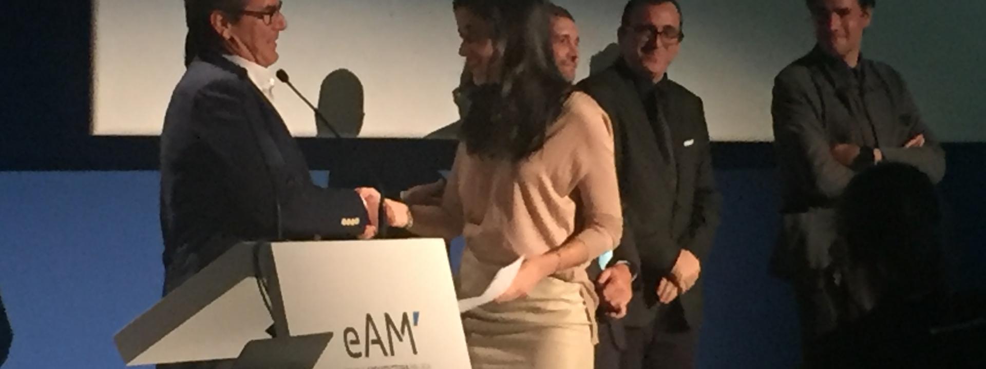 Entrega premio al mejor PFC en ETSA Malaga.